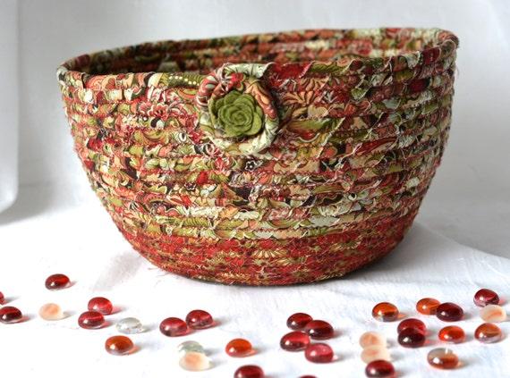 Fall Designer Basket, Handmade Autumn Bowl, Kitchen Decoration, Unique Gift Basket, Bathroom Paper Holder, Napkin Basket