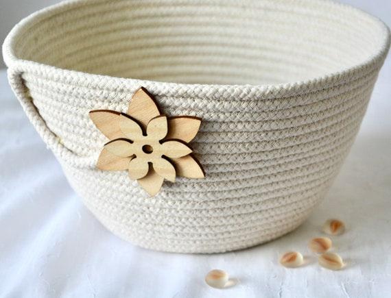 Bread Proofing Basket, Neutrals Rope Basket, Handmade Quilted Bowl, Dough Holder, Farmhouse Coiled Basket, Sourdough Proving Basket
