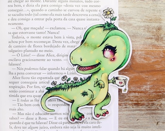 Camomile - The Relax T-Rex - bookmark - made to order