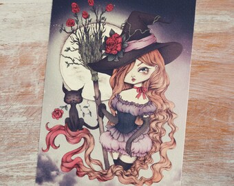 Bewitching - Open edition art postcard - made to order
