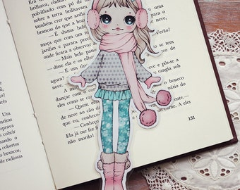 I love my Ear Muffs - bookmark - made to order