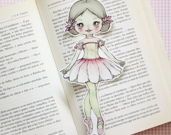 Alina the Ballerina Flower - bookmark - made to order