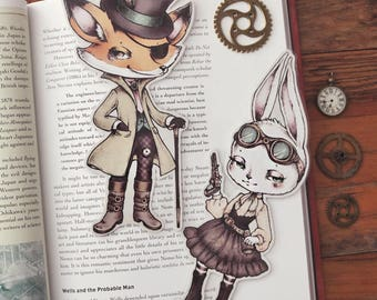 Some Cute Bandits - bookmarks set - made to order