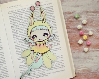 Miss Bunny Bee - bookmark - made to order