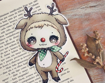 It's a Rudolph - bookmark - made to order
