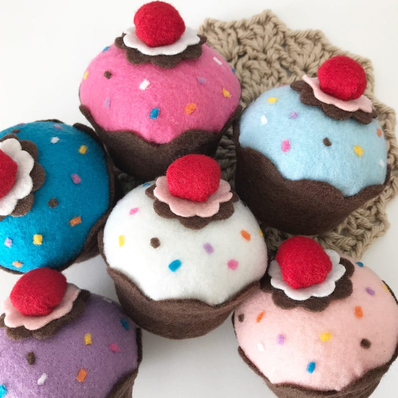 Sprinkle Felt Cupcakes Party Decorations Photo Props Play Etsy