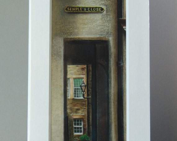 Semple's Close giclee print by Edinburgh pastel artist Carolanne Jardine.