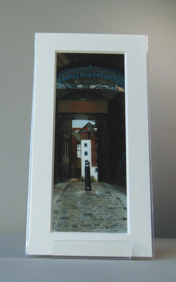 Old Fishmarket Close giclee print by Edinburgh pastel artist Carolanne Jardine.