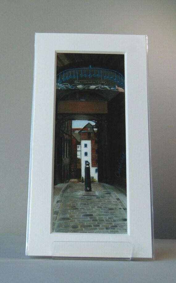 Old Fishmarket Close giclee print by Edinburgh pastel artist Carolanne Jardine.
