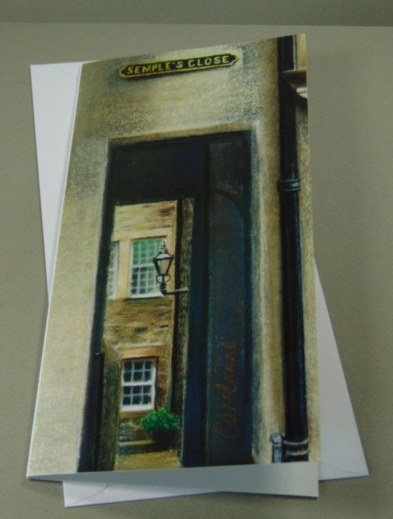 Semple's Close art card by Edinburgh pastel artist Carolanne Jardine.
