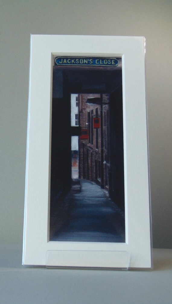 Jackson's Close, Edinburgh giclee print by Carolanne Jardine.  Quality print depicting Jackson's Close in Edinburgh's old town.