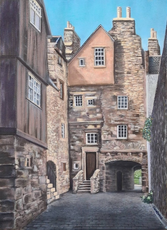 Carfax Close (Bakehouse Close), Edinburgh giclee print by Carolanne Jardine.  Quality print depicting Carfax Close in Edinburgh's old town.