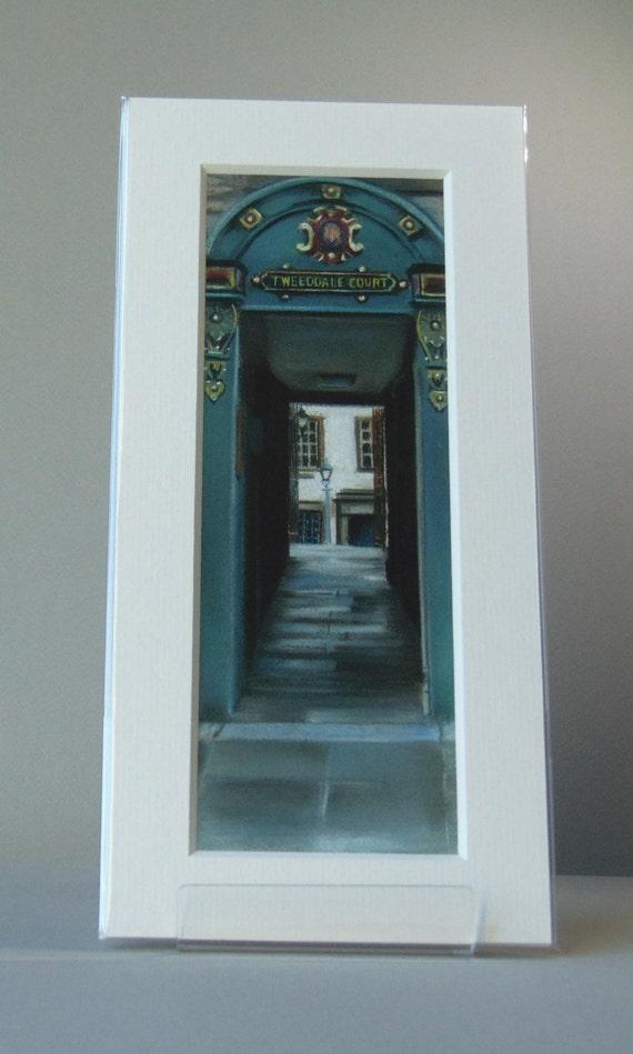 Tweeddale Court, Edinburgh giclee print by Edinburgh pastel artist Carolanne Jardine.