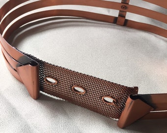 Small 30 Boho Belt Hammered copper Belt