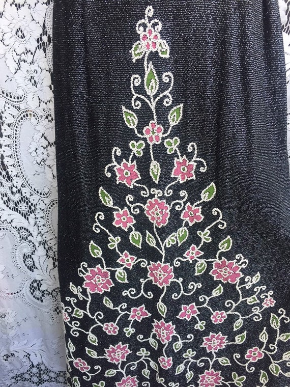 60s 70s vintage maxi dress with amazing mosaic on