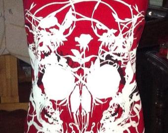 Graphic Skull Halter Dress