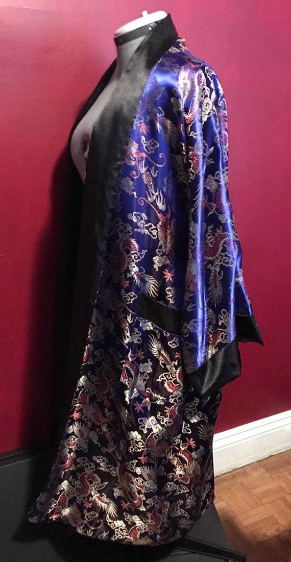 Silk Robe, Satin Robe, Embroidered Robe, Oriental