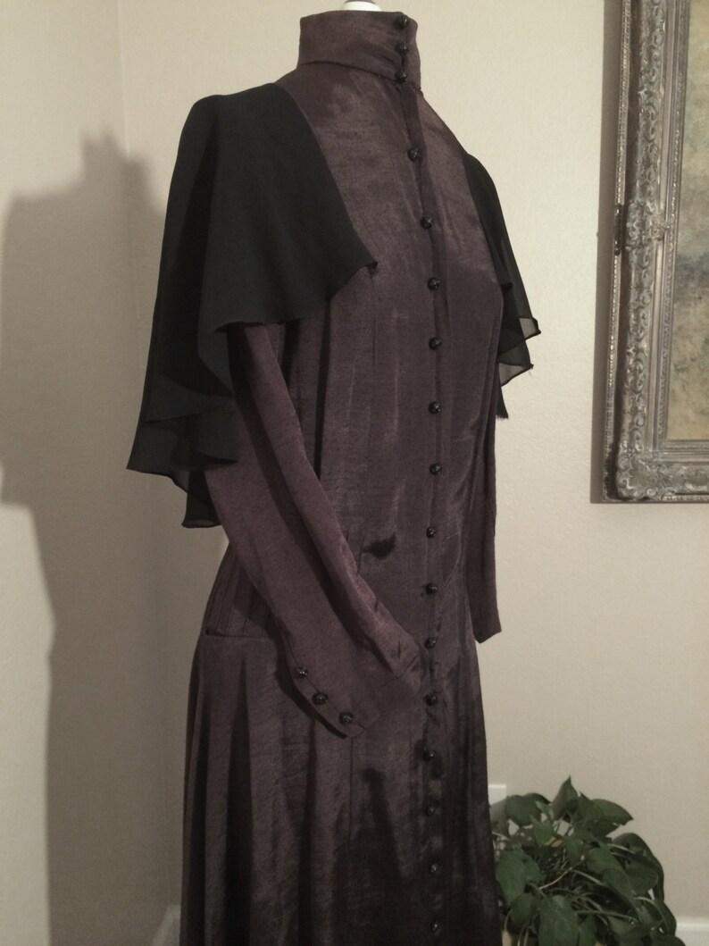 eeb979bcb0 Steampunk Vintage Style Black, Goth, Zombie, Victorian, 1920's Drop Waist  Dress Free Ship