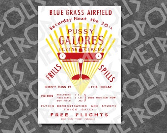 Goldfinger - Flying Circus Poster - Prop Replica