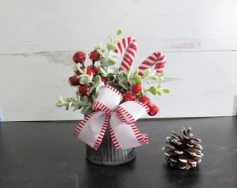 Small Christmas Arrangement, Tiered Tray Christmas Decor, Christmas Mantel Decor, Desktop Decor for Christmas, Christmas Home Accent