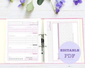 Classy Weight Loss and Fitness Journal, 8 page, printable