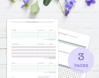 Beginner Weight Loss and Fitness Journal, 3 page, printable