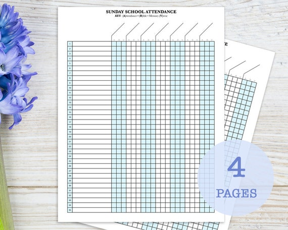 photo regarding Attendance Sheet Printable identified as Sunday Faculty Attendance Sheet with Birthday Tracker, printable