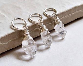 Herkimer Diamond Jewelry - Herkimer Pendant - Raw Crystal Jewelry Handmade  - Crystal Pendant for Necklace - Double Terminated Quartz Point