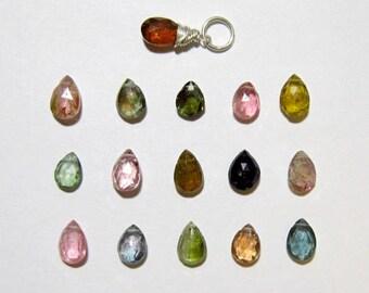 WAT3 - Multi Color Watermelon Tourmaline Pendant - Pink Tourmaline Jewelry - Green Tourmaline Gemstone Jewelry - Healing Crystals