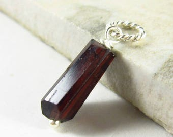 L - Dark Red Garnet Nugget Pendant - Natural Gemstone Jewelry - Genuine Garnet Pendant - Natural Stone Jewelry - Pyrope Garnet Jewelry