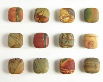 Choose Your Stone - Matte Cherry Creek Jasper Pendant - Fancy Jasper Stone Pendant - Natural Jasper Jewelry Handmade - Gold or Silver Wrap