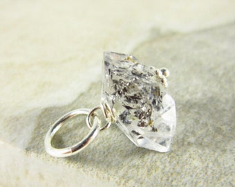 Genuine Herkimer Diamond Jewelry - Herkimer Crystal Jewelry - Bracelet Charms - Natural Gemstone Charms - Double Terminated Crystal Pendant