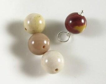LgMo1- Mookaite Jasper Pendant - Natural Mookaite Pendant - Beige Mookaite Jewelry - Natural Stone Pendant - Metaphysical Healing Stones