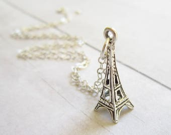 Sterling Silver Charms - Silver Pendant - Eiffel Tower Gifts - Eiffel Tower Charm Jewelry - Paris Gift - Paris France Jewelry - Metal Charms