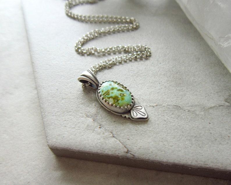 Royston Turquoise Pendant Nugget  Genuine Turquoise Jewelry  image 0