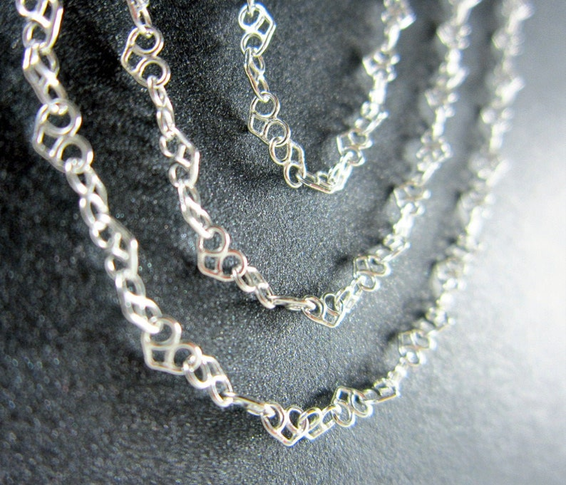 CLOSEOUT  HEART  Delicate Sterling Silver Chain for Charms  image 0