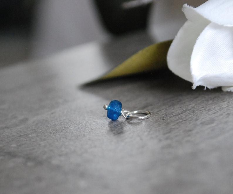 Caribbean Blue Apatite Pendant  Neon Blue Apatite Jewelry  image 0