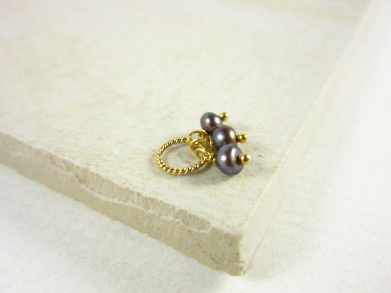 Tiny Trio  Bridesmaid Gift Jewelry  Pearl Bridal Jewelry  image 0
