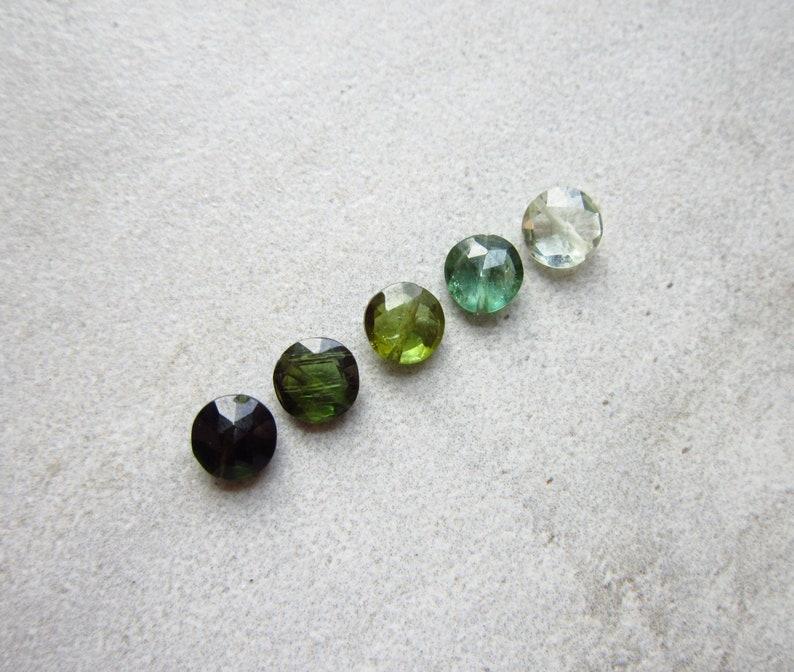 MIX  Green Tourmaline Pendant  Natural Tourmaline Charms  image 0