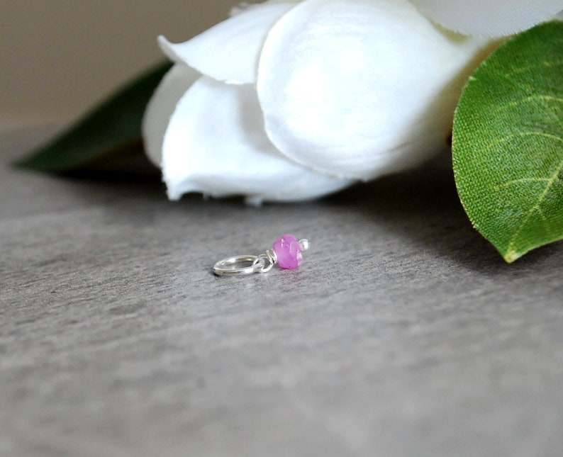 Tiny Solo LG LT  Precious Pink Sapphire Jewelry Add On  image 0