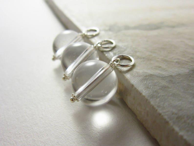 L Clear Quartz Pendant  Healing Stone Jewelry  Natural image 0