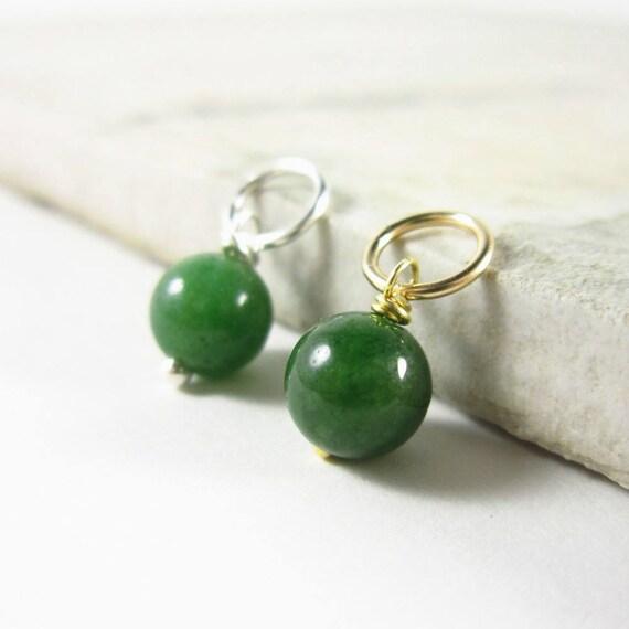 Dark green jade pendant genuine jade jewelry nephrite jade etsy aloadofball Choice Image