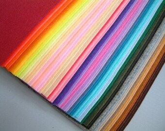 Special price-99 sheets felt and 3 fairyfox felt patterns--FS11