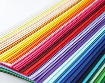 On Sale_ Felt fabric set-56 sheets felt and a single fairyfox felt pattern--FS10