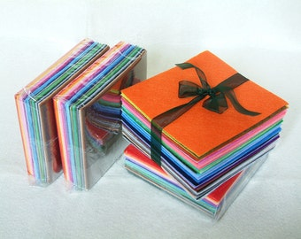 Felt Fabric--43 Felt sheets Mini set