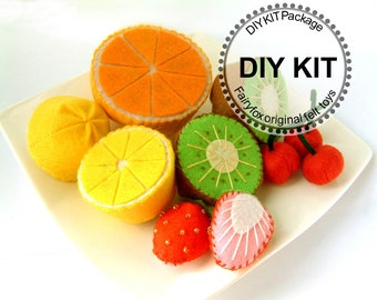 DIY felt fruits Kit Package--K-V02