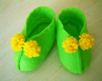 Easy sewing-DIY felt baby shoes-PDF pattern(6 different size)-H03-1