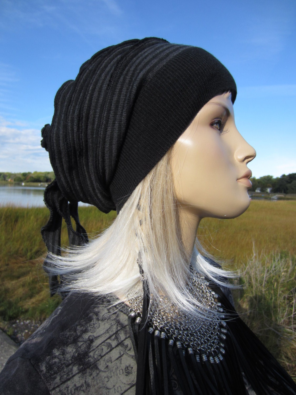 347d141913bef Cute Hats for Women Slouchy Beanies Slouch Tams Merino Wool Black ...