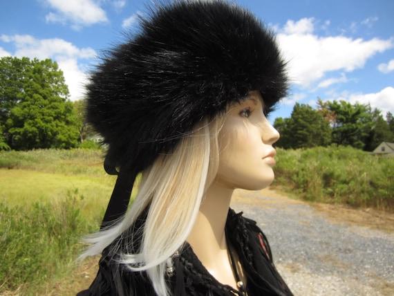 Russian Style Fur Hat Ushanka Trapper Hat Black Cashmere  e750657a019