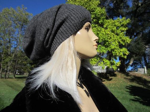 c0d8c95ae74b4 Women s Winter Hats by Vacationhouse Gray Merino Wool Knit
